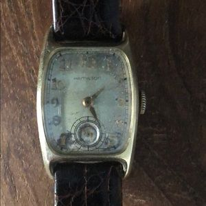 1930's Original Hamilton watch with Crocodile Band
